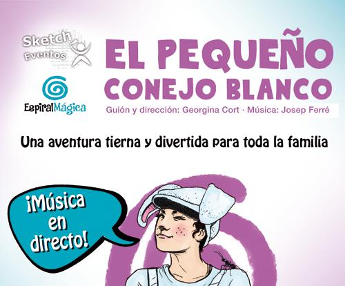 Pandora Producciones - Espectáculos Palencia: FUNDOS Unicaja - El pequeño conejo blanco, El Musical