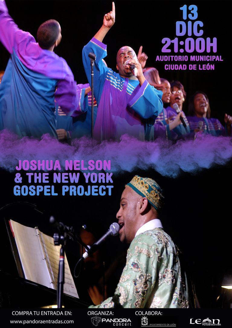 Pandora Producciones - Grandes del Gospel: Joshua Nelson & The New York Gospel Project - El Evnagelio según Joshua - León - 2018