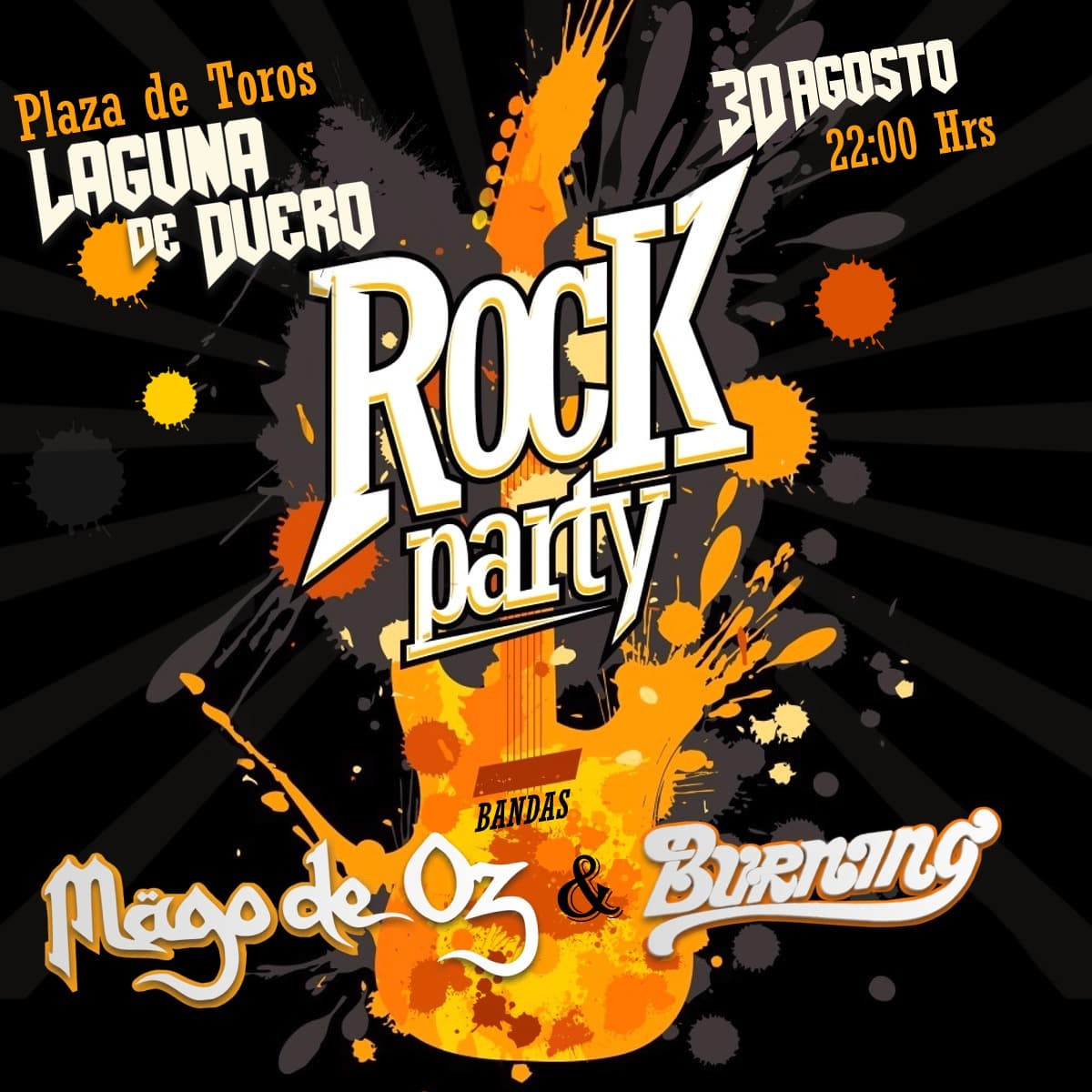 Pandora Producciones - Laguna Rock Party con Mago de Oz & Burning - Laguna de Duero - Valladolid - Agosto - 2019