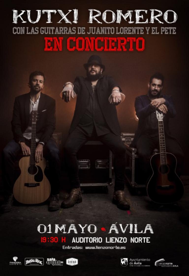 Pandora Producciones - El concierto de Kutxi Romero, vocalista de Marea, en Ávila queda aplazado para el día 1 de mayo