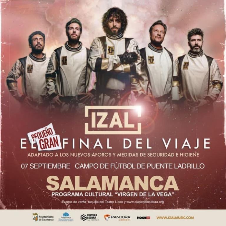 """Pandora Producciones - IZAL EN CONCIERTO """"EL PEQUEÑO GRAN FINAL DEL VIAJE"""" - Salamanca - 2021"""