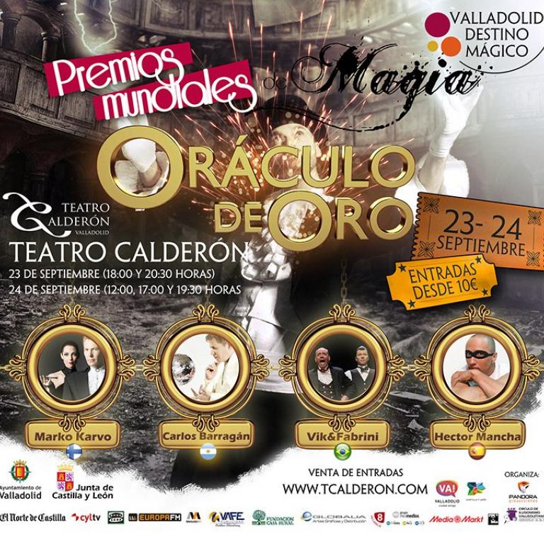 """Pandora Producciones - Premios Mundiales """"Oráculo de Oro"""" - Valladolid - 2017"""